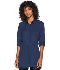 BCBGMAXAZRIA Pleated Button Down Tunic Dress