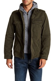 Levi's Faux Shearling Lined Military Jacket w/ Hoo