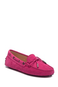 Tod's Suede Leather Grommini Moccasin
