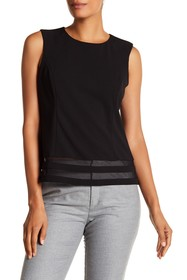 Calvin Klein Illusion Mesh Paneled Top