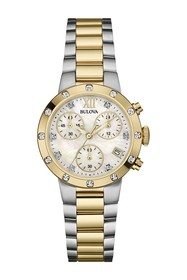 Bulova Women's Diamond Case Chronograph Watch