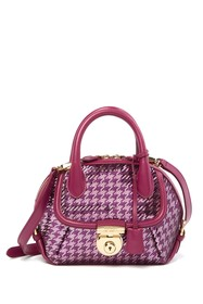Salvatore Ferragamo Fiamma Sequin Mini Satchel