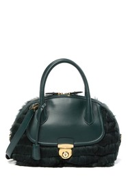 Salvatore Ferragamo Fiamma Genuine Rabbit Fur Satc