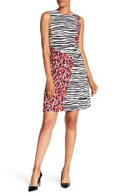 BOSS Diseba Animal Print Sheath Dress