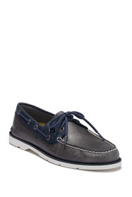 Sperry Leeward 2-Eye Leather Nautical Boat Shoe -