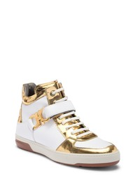 Salvatore Ferragamo Nayon High-Top Leather Sneaker