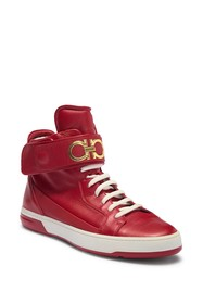 Salvatore Ferragamo Night High-Top Leather Sneaker