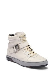 Salvatore Ferragamo Mulberry High-Top Leather Snea
