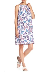 Tommy Bahama Tossed High Neck Paisley Dress