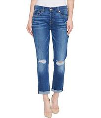 7 For All Mankind Josefina Jeans w/ Knee Holes in