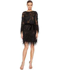Marchesa Long Sleeve Lace Tunic w/ Ao Beaded Embel