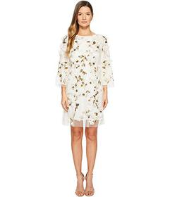 Marchesa Embroidered Tunic with Sequins and Beads