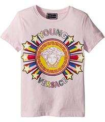 Versace Short Sleeve Tee with Logo Graphic (Toddle