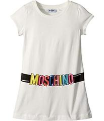 Moschino Short Sleeve Tunic w/ Logo Belt Graphic (