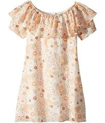 Chloe Flower Print Ruffle Dress (Big Kids)