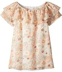 Chloe Flower Print Ruffle Dress (Little Kids/Big K