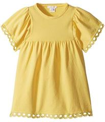 Chloe Milano Short Sleeve Dress with Percale Detai