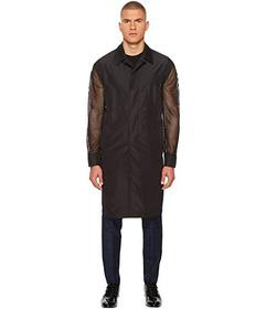 Versace Collection Mesh Sleeve Trench Coat