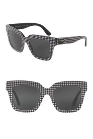 Dolce & Gabbana 51mm Houndstooth Sunglasses