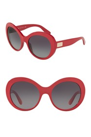 Dolce & Gabbana 57mm Gradient Oval Sunglasses