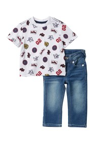 True Religion Patch Tee & Jeans Set (Baby Boys)