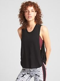 GapFit Muscle Tank Top with Twist Detail