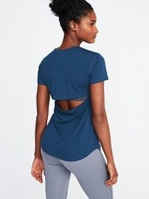Cutout-Back Performance Tee for Women