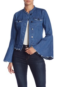 Romeo & Juliet Couture Bell Sleeve Denim Jacket