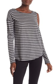 Vince Camuto Rapid Long Sleeve Striped Blouse