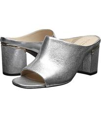 Cole Haan Silver Crackle Metallic Leather