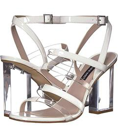 Nine West Clear/White Synthetic
