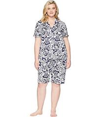 LAUREN Ralph Lauren Plus Size Notch Collar Bermuda
