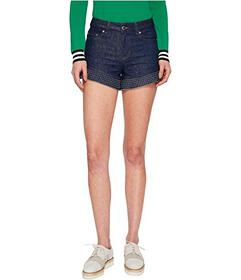 RED VALENTINO Denim Shorts with Studs