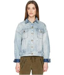 The Kooples Denim Jacket with Destroyed Effect