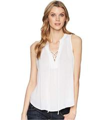 Stetson 1577 Rayon Crepe Laced Loose Tank Top