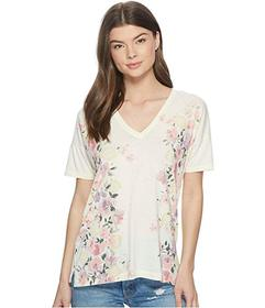 Lucky Brand White Floral Tee