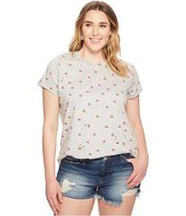 Lucky Brand Plus Size All Over Hearts Tee
