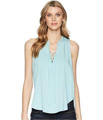 Stetson 1580 Rayon Crepe Laced Loose Tank Top