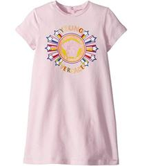 Versace Short Sleeve Dress with Medusa Graphic (In