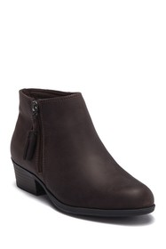 Clarks Addiy Terri Leather Ankle Bootie - Wide Wid