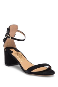 Salvatore Ferragamo Connie Suede Block Heel Sandal