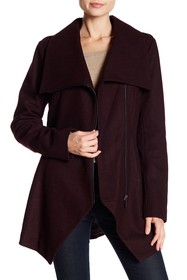 French Connection Asymmetrical Hem Coat