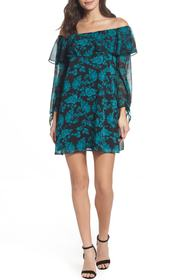 Sam Edelman Off-the-Shoulder Print Shift Dress