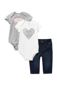 Levi's 3-Piece Mega Box Set (Baby Girls)