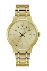 Bulova Men's Diamond Accented Analog Quartz Bracel
