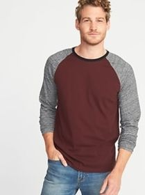 Soft-Washed Color-Blocked Raglan Tee for Men