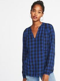 Checked Swing Blouse for Women