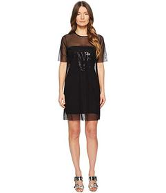 Versace Jeans Couture Sheer Overlay Short Sleeve D
