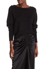 Theory Tonal Patterned Boatneck Sweater