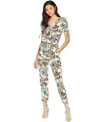 Juicy Couture Ornate Floral Paisley Silk Jumpsuit